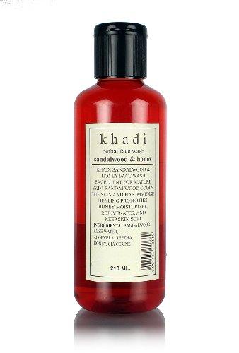Khadi Herbal Sandal And Honey Face Wash, 210ml