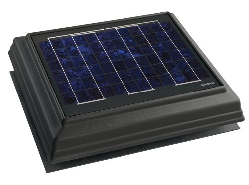 Broan 355SOWW Surface Mount Solar Powered Attic Ventilator, Weather Wood ()