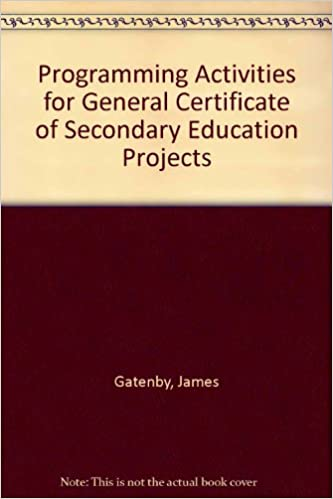 Programming Activities for General Certificate of Secondary ...