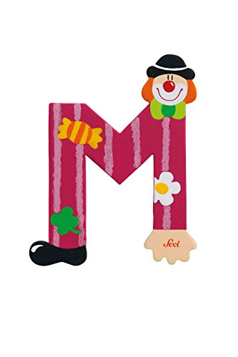 Sevi 1831 wooden toy - Graffiti - Letter M Clown (81749)