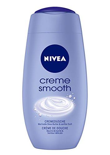 Nivea Creme Smooth Cremedusche, Duschgel, 2er Pack (2 x 250 ml)