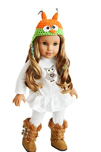 [My Brittany's Fall Owl Outfit For American Girl Dolls Complete with Boots] (Doll Outfits Halloween)