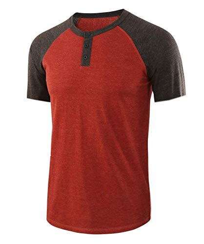 Men's Round Neck Short Sleeve Large Size Custom Business T-Shirt Red L