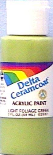 Delta Ceramcoat Light (Plaid:Delta Ceramcoat Acrylic Paint, 2-Ounce, Light Foliage Green/Opaque)