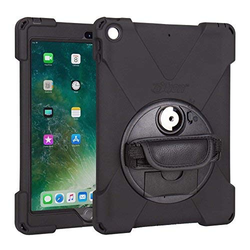 The Joy Factory aXtion Bold MP Water-Resistant Rugged Shockproof Case, Built-In Screen Protector, Hand Strap, Kickstand for iPad 9.7 5th/6th Gen (CWA602)