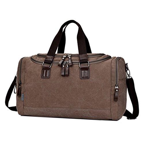 de Marrón lienzo HeHe hombro bolsa bolso bolsa viaje Unisex de APqOfRw