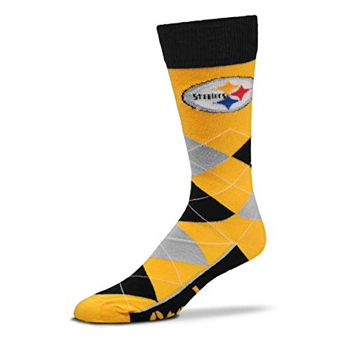 (For Bare Feet - NFL Argyle Lineup Men's Crew Socks - One Size Fits Most (Pittsburgh Steelers))