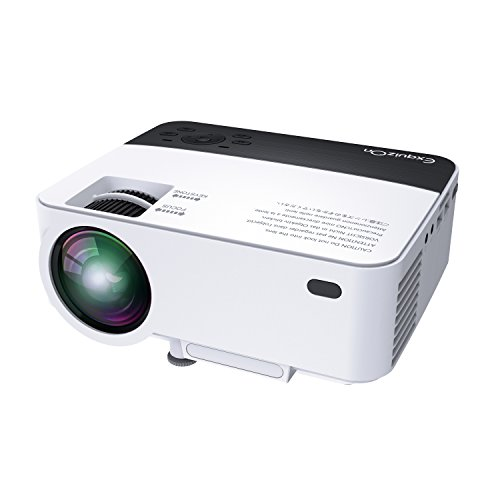ExquizOn T5 LCD Mini Portable Projector Multimedia Home Theater Video Projector Support 1080P HDMI USB Sd Av Vga for Laptop...