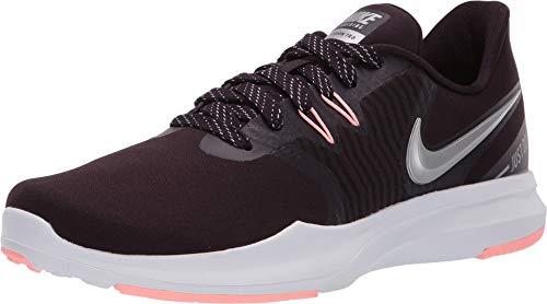 (Nike Women's in-Season TR 8 Training Shoe Burgundy Ash/Metallic Silver/Pink Tint Size 8.5 M US)