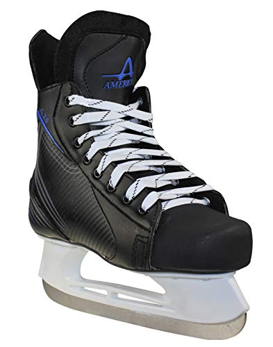American Athletic Shoe Boys Ice Force Hockey Skates, Black, 2