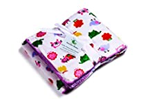 Genio Baby Sherpa Fleece Baby Blanket Unisex 30 x 40 Soft- Perfect for Swaddling and Strolling- Fluffy for Boys and Girls (Modern Forest)