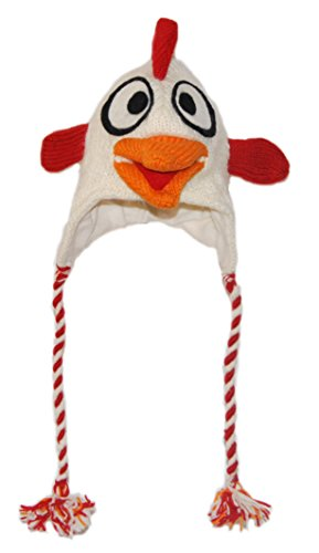 Crazy Rooster knitted Animal Hat Child - 40 Animals available for child/adult (Adult Rooster Costume)