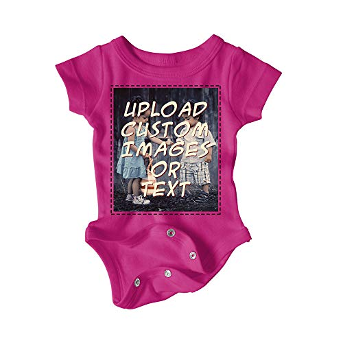 Custom Baby Onesie/Bodysuit Make It What You Want (Hot Pink, 6 Month) (Girl Custom Made Baby Onesie)