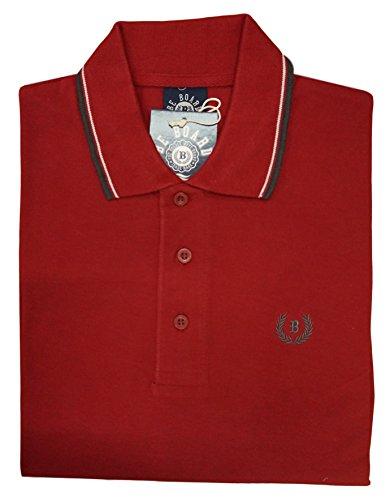 Be Board Sportliches Herren Poloshirt kurzarm Übergröße 100% Baumwolle Größe 5XL Farbe Rot