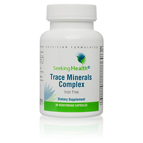 Seeking Health | Trace Minerals Complex | Trace Mineral Supplement | Includes Horsetail Extract | 30 Vegetarian Capsules