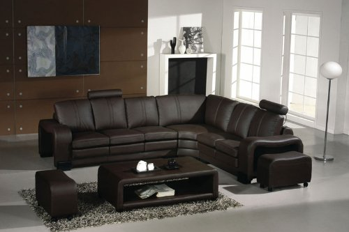 Brown Italian Couch (3330 Espresso Italian Leather Sectional Sofa Set)