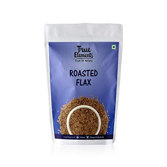 True Elements Roasted Flax Seeds (Unsalted), 125gm