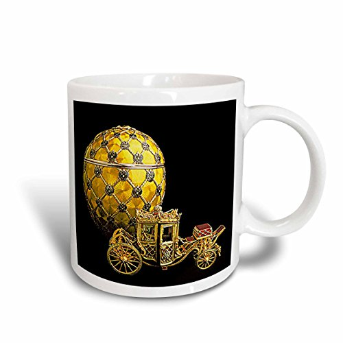 3dRose Picturing Faberge Egg Coronation Mug, 15-Ounce
