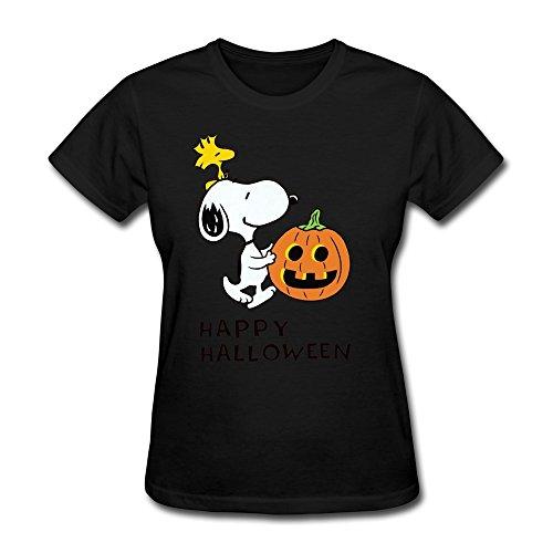 KAITIAN Halloween Women's Short Sleeve T-shirt Black Size XL -