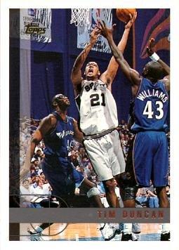 1997-98 Topps Basketball #115 Tim Duncan Rookie Card