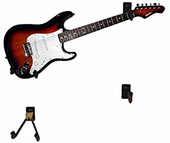 guitar wall mount hook horizontal aftal entertainment collectibles