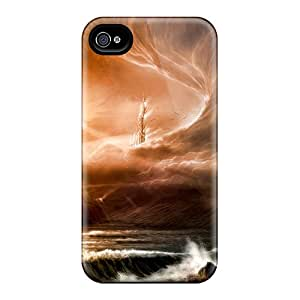 Garshop Premium Protective Hard Case For Iphone 4/4s- Nice Design - Sun Vs Wind