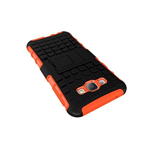 Galaxy A8 Funda,COOLKE Duro resistente Choque Heavy Duty Case Hybrid Outdoor Cover case Bumper protección Funda Para Samsung Galaxy A8 - verde naranja