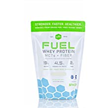 FUEL Whey Protein Powder (Coconut) by SFH   Great Tasting Grass Fed Whey   MCTs & Fiber for Energy   All Natural   Soy Free, Gluten Free, No RBST, No Artificial Flavors   2lb Bag (896g) 28 Servings