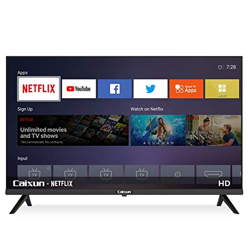 Caixun 32 Inch Smart TV – EC32S1N 720p Flat Screen LED Television Built-in HDMI, USB,Support Screen Cast Mirroring,WiFi…