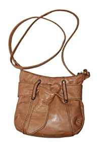 Steve Madden brown leather purse (Strap: 23in. Purse:9W8L, Brown)