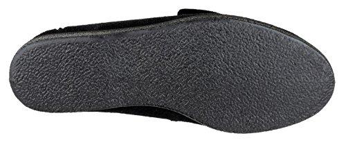 Mirak Size Slipper Black Touch 6 Fastening Andrea qqPwBAO
