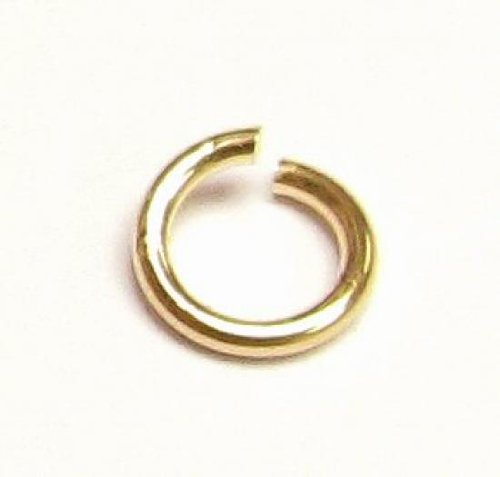 - 20 pcs 14k Gold Filled Round Open Jump Rings 4mm 22 Gauge 22ga Wire/Findings/Yellow Gold