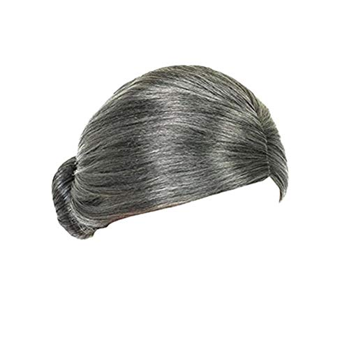 (STOBOK Old Lady Wig Costume Mrs. Santa Granny Grandma Aged Women Wig Bun Hairstyle Halloween Christmas Cosplay)