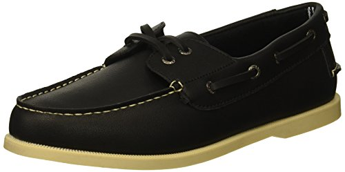 - Nautica Men's NUELTIN Boat Shoe, Black, 8 Medium US