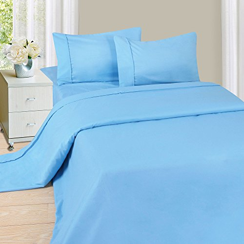 Lavish Home 1200 4-Piece Sheet Set, Full, Blue