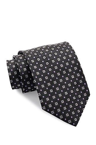Boss Hugo Boss Circles & Squares Italian Silk Tie, Black (Black Tie Circle)