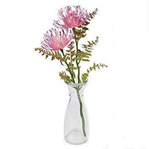 Tutuziyyy 3pcs Artificial Chrysanthemum Flowers Fake Memorial Flowers for Memorial Day, Cemetery, Home Office, Wedding, Restaurant Decor, Country 112