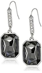 """Kenneth Cole New York """"Teal Petrol"""" Rectangle Faceted Bead Drop Earrings"""