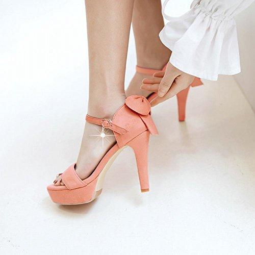 Mee Shoes Damen high heels Schleife ankle strap Sandalen Pink