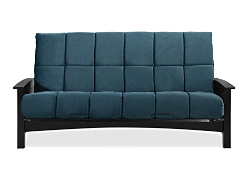 Sofas 2 Go SI-EX-DEN-WG-4I Denver Wenge Futon Frame W/ 8