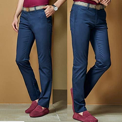 Unie Décontracté Taille Fit Blau couleur Forte Homme Chinoise 38 Maigre Couleur Dunkel Slim Pantalon Confortable qadzwq