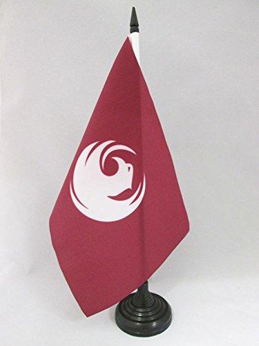 AZ FLAG Phoenix Table Flag 5'' x 8'' - Phoenix City - Arizona Desk Flag 21 x 14 cm - Black Plastic Stick and Base
