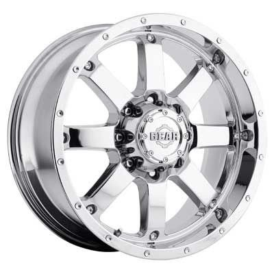 Gear Alloy Big Block (Gear Alloy Big Block 20 Chrome Wheel / Rim 8x170 with a -44mm Offset and a 130.18 Hub Bore. Partnumber 726C-2128744)