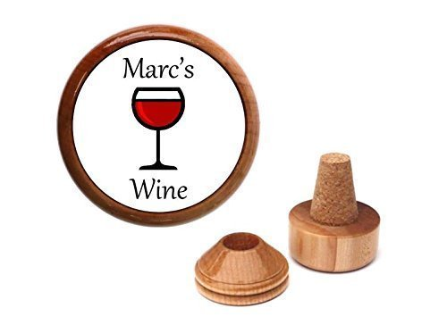 Unique personalized wine bottle stopper and cork holder.