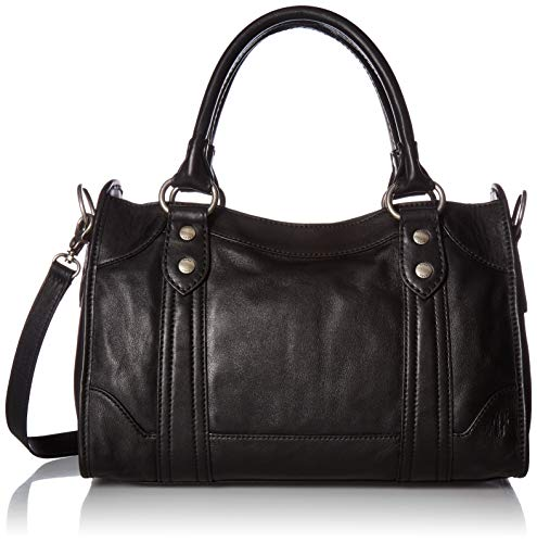 FRYE Melissa Zip Satchel Leather Handbag, - Handbag Leather Black Small