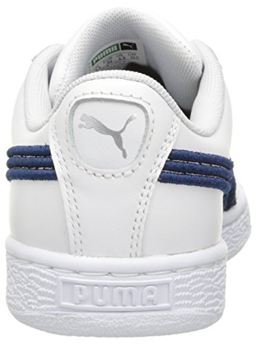 Puma Mens Korg Klassiska Emblem Mode Sneaker Puma Vita True Blue