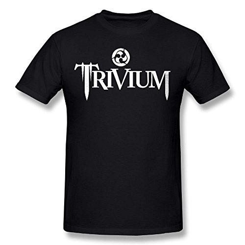 Mans Trivium Heavy Metal Band Unique T Shirt (Carson Design Plain)