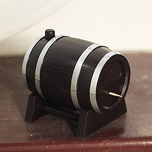 Shopline Wine Barrel Plastic Automatic Toothpick Box Container Dispenser Holder