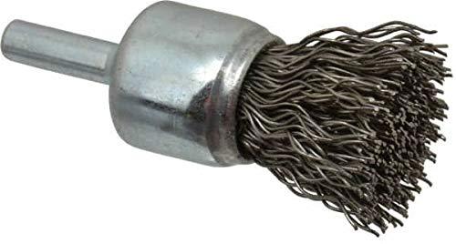 Steel Shank 3//4 Diam Crimped Wire End Brush 22,000 Max RPM Weiler 1//4 Shank Diam