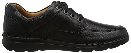 Clarks Unnature Time, Scarpe Stringate Derby Uomo Nero (Black Leather -)